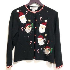 Tiara Int'l Christmas Collection Santa Sweater